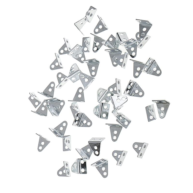 40 Pieces L-shaped angle Iron for Architectural Model Toy Car Part Robotics
