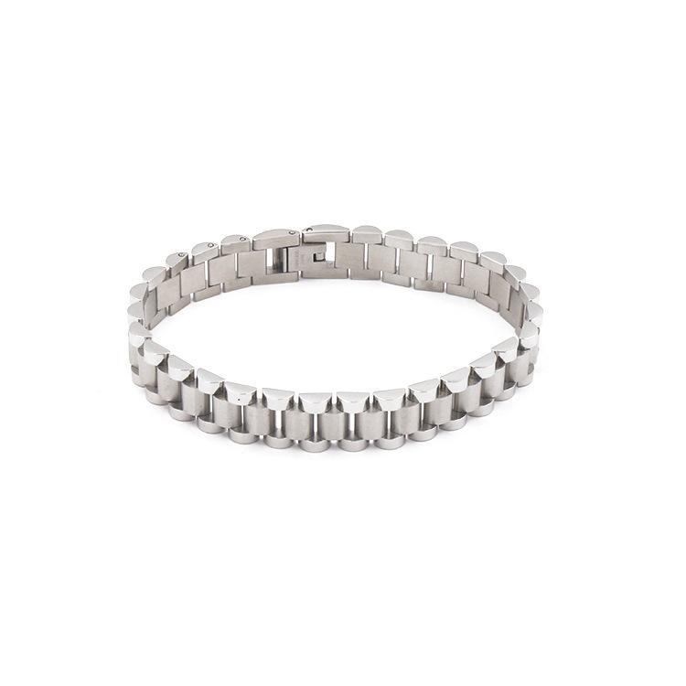 2019 moda in acciaio al titanio a forma di ingranaggio catena braccialetto fibbia a catena spezzata braccialetto a quattro colori paio braccialetto braccialetto guardiano d'amore