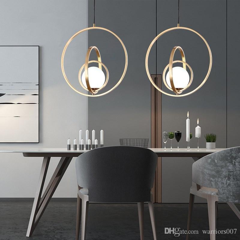 Nordic Pendelleuchten Rotating Globe Art Lampen Nachtlicht Hang Glaskugel Innen Wohnzimmer Schlafzimmer Restaurant Beleuchtung für Zuhause