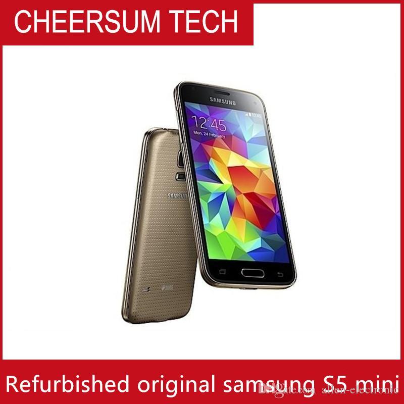 "2016 Original Desbloqueado Telemóveis Samsung Galaxy S5 mini-G800F16.0MP 16GB ROM Android OS 5.1"" Smartphone Recuperado"