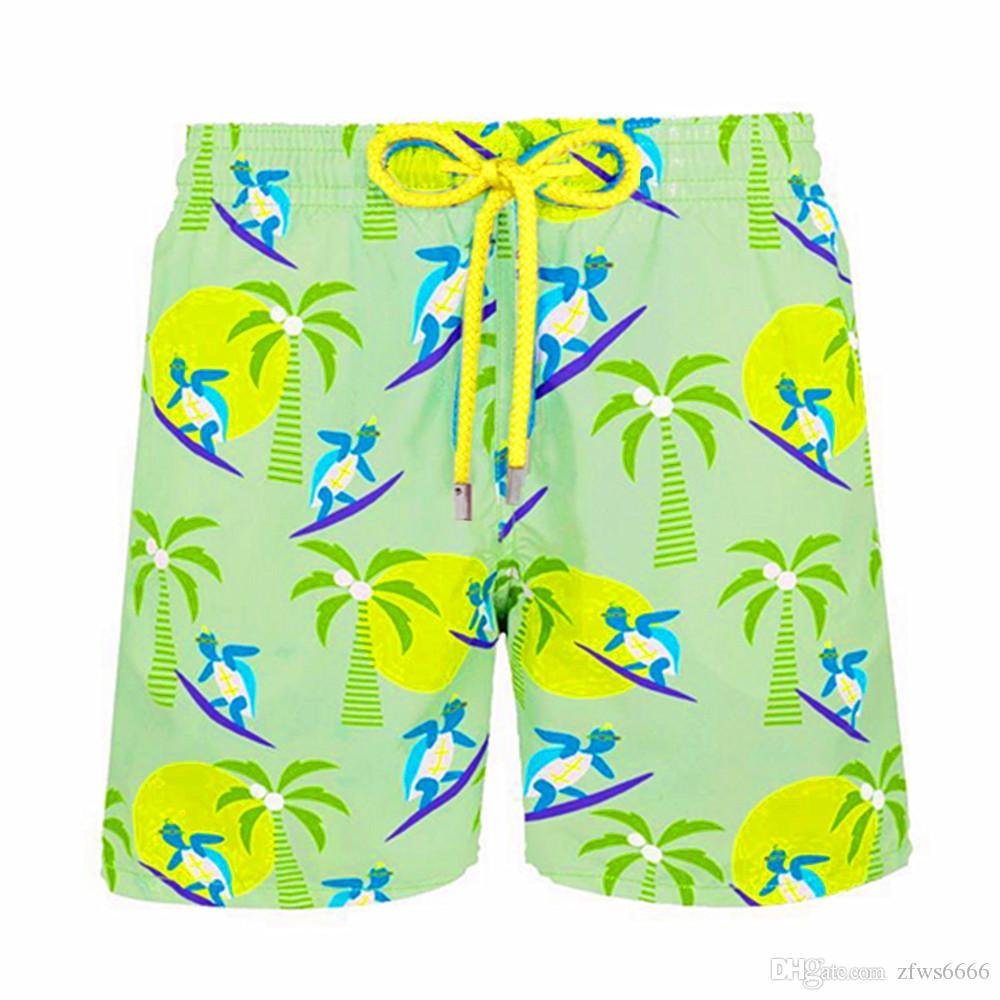 Pantaloncini da spiaggia uomo Vilebrequin Pantaloncini Vilebrequ 0106 marca Costumi da bagno polpo stelle marine Stampa tartaruga Pantaloncini da bagno uomo Asciugatura rapida Vilebre
