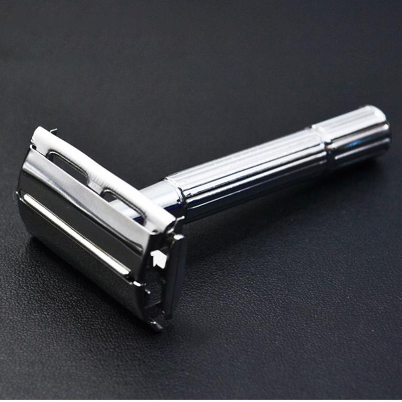 Steel Classic Double Edge Blade Safety Shaving Razor Shaver Handle Holder Blade With Mirror Case