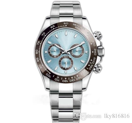 Movimiento automático para hombre reloj de cerámica Bisel Cristal de zafiro TONA Serie 116500LN simple Dial Relojes 40 mm de acero inoxidable macizo de cierre macho