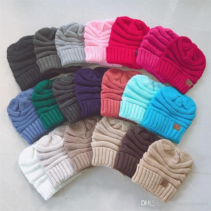 Lana otoño invierno de la moda de las mujeres del sombrero que ensancha al aire libre a prueba de viento cálido y confortable Pullover Sombrero de 20 colores para el adulto