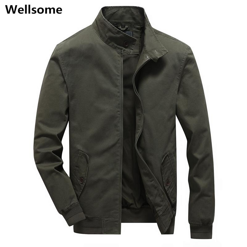 Мужские грузовые Куртки ветровка пальто для мужчин Мужской моды Бомбардировщика куртки осени Повседневных Пальто армия На открытом воздухе Одежды