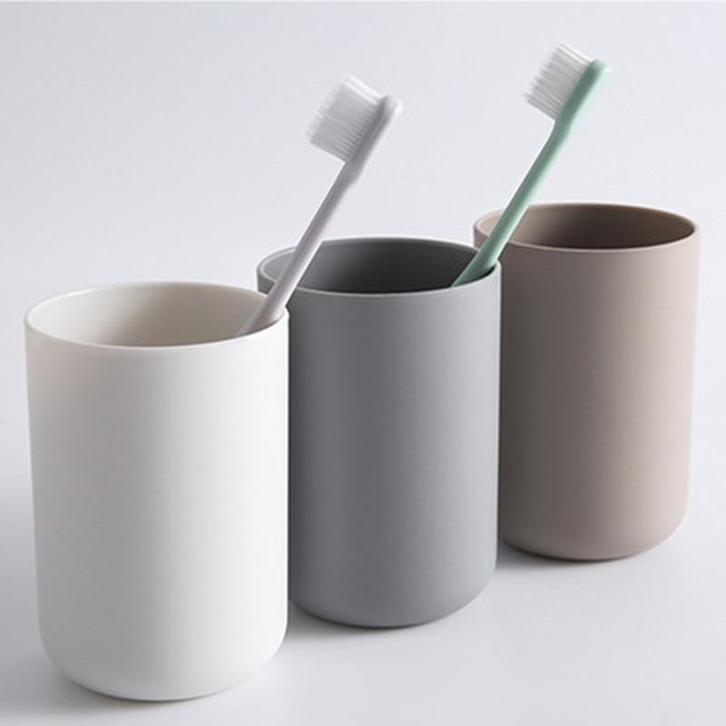 1Pc tragbare japanische Art Bad Zahnbürste Cup Simple Plain Cup Farbe drei Paar Zahn Cup
