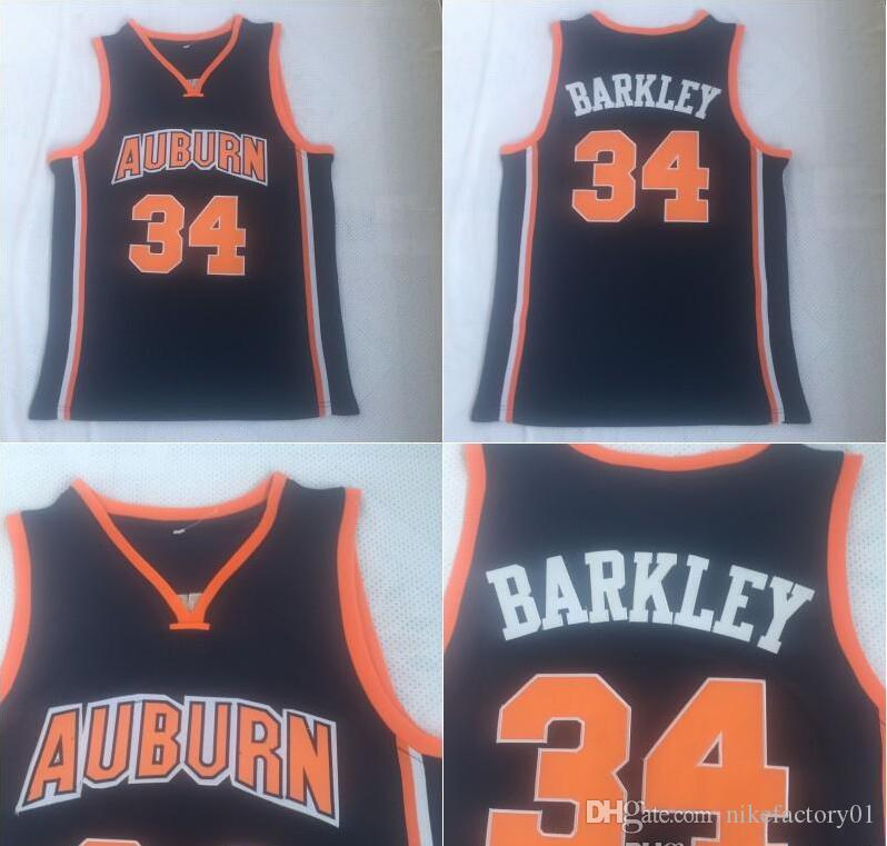 2019 Ncaa Auburn Tigers 34 Charles Barkley Basketball Shirt Mens Charles Barkley College Basketball Jerseys Stitched University Uniform From