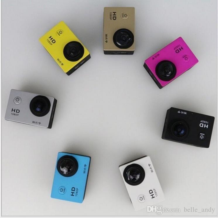أرخص نسخة لأسلوب SJ4000 A9 2 بوصة شاشة LCD كاميرا مصغرة الرياضة الكاميرا كامل 1080p HD العمل 30M مقاوم للماء الرياضة خوذة كاميرات الفيديو الرقمية