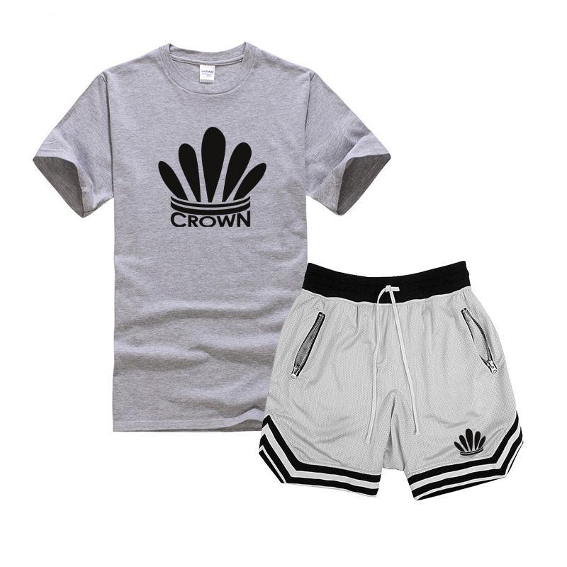 2020 estate sportivo degli uomini di modo del vestito di sport T-shirt vestito ad asciugatura rapida pantaloncini da uomo casuali di nuovo sportivo