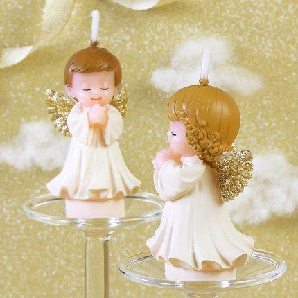 Angel Baby Girl Boy Children Birthday Party Baby Shower Decoration Gift Candles