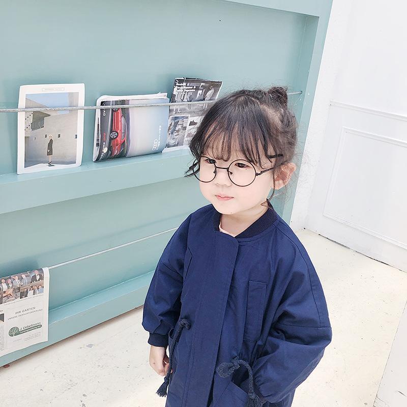 2019 الخريف أطفال سترة واقية بنين وبنات القطن عادية الأدوات المحايدة معطف الطفل طويل المد والجزر