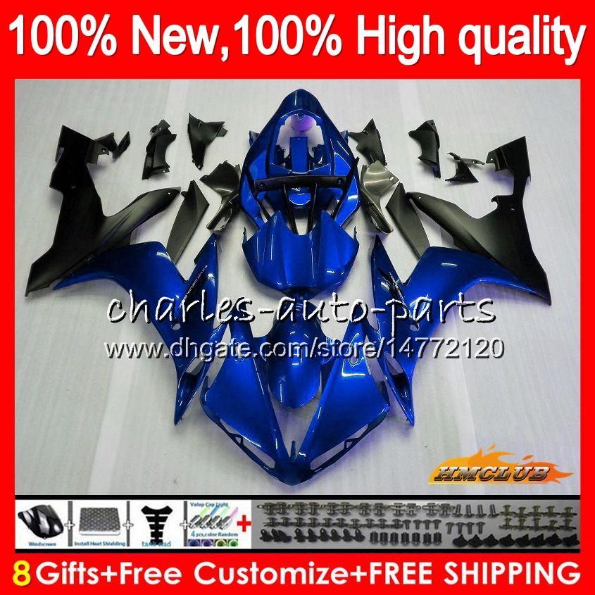 Corpo Para YAMAHA YZF1000 YZF R1 1000 cc azul preto quente YZF1000 1000cc 63HC.14 YZF R1 04-06 YZFR1 YZFR1 04 05 06 2004 2005 2006 Fairing kit