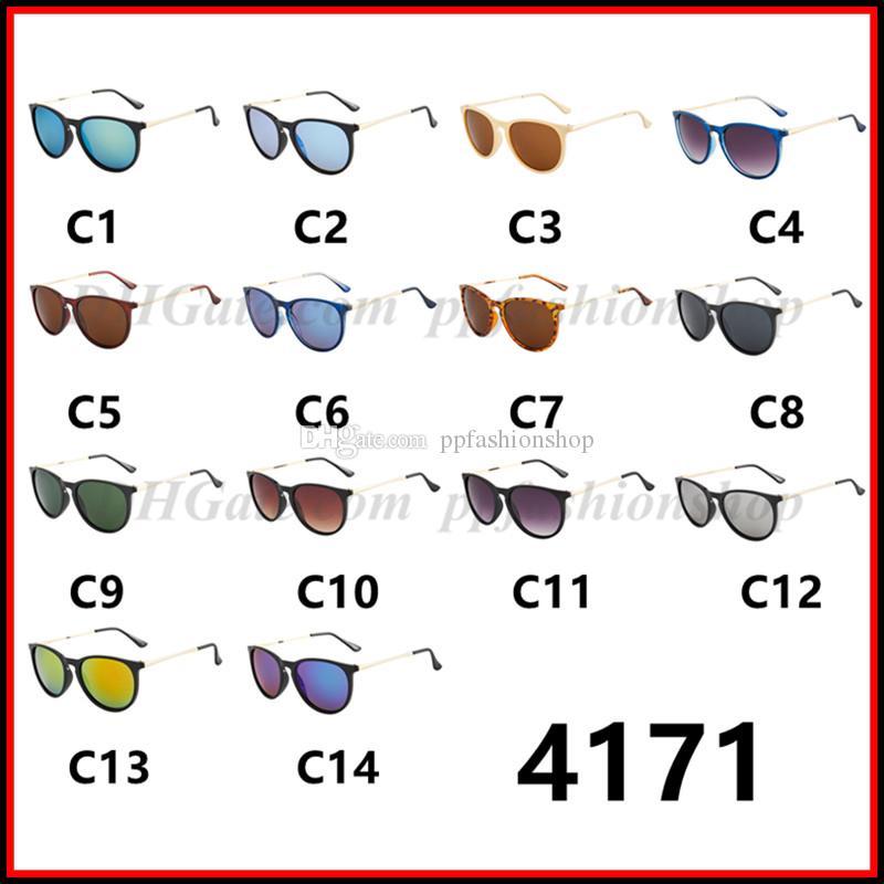Mode Hommes Femme Eyewear Designer Brand Sun Lunettes Matt Leopard Gradent UV400 Lentilles 14 Couleurs 4171 Lunettes de soleil