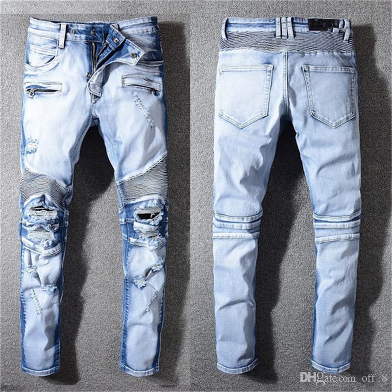 WW-Balman Nuovi progettista del Mens semplici estivi leggeri jeans da uomo Large Size Fashion Casual Solid jeans classici dritti
