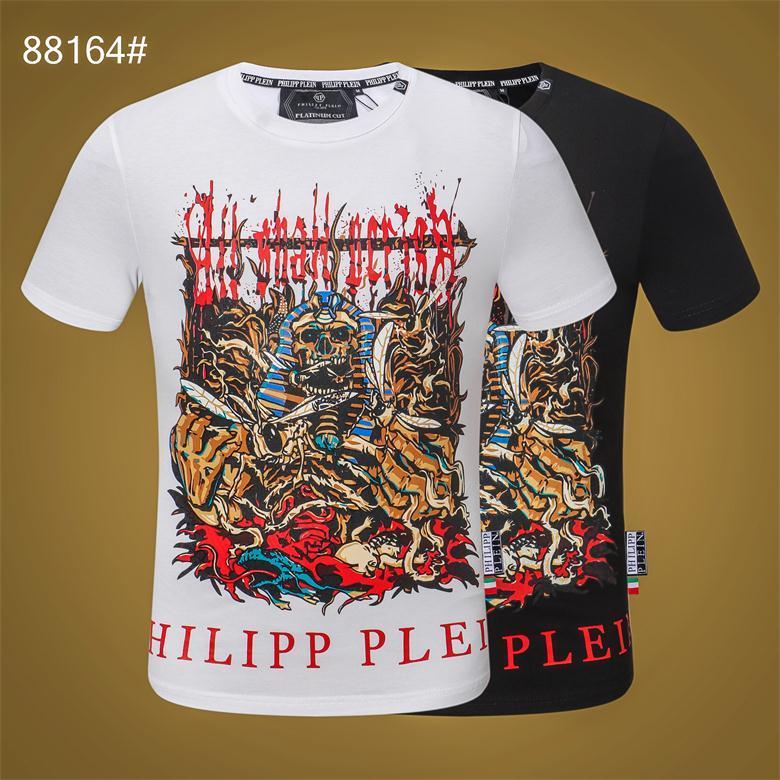 2020 Die Art und Weise der neuesten Männer-T-Shirt in Europa und Amerika Luxusmarke Straße lässig Hip-Hop-T-Shirt Schwarzweiss-2 Farben M-3XL # 88