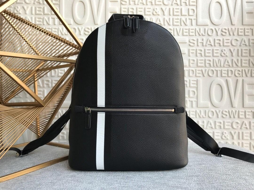 New black and white stripe cowhair material backpack, leather delicate and simple soft upper fashionable atmosphere, all show the noble luxu