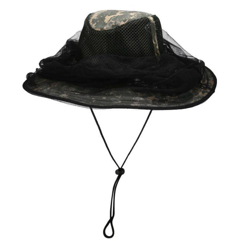 Туризм Колпачки Открытый Рыбалка Складной Отдых Ультрафиолетовый доказательство Пчеловодство Противомоскитный Mesh Hat Head Net Hat с Hidden Mesh с