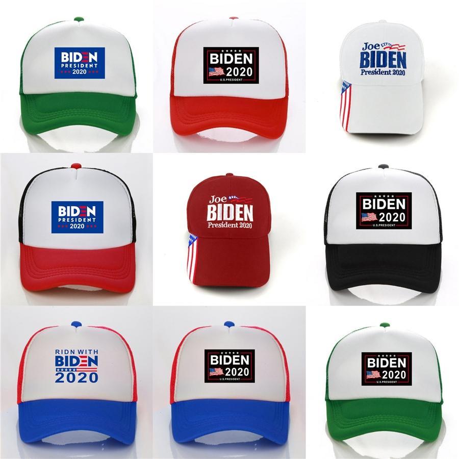 4styles Donald Biden Cappello stella di baseball Usa Flag Camouflage Cap Keep America Grande 2020 Lettera del cappello del ricamo 3D regolabile Snapback Ffa22 # 78