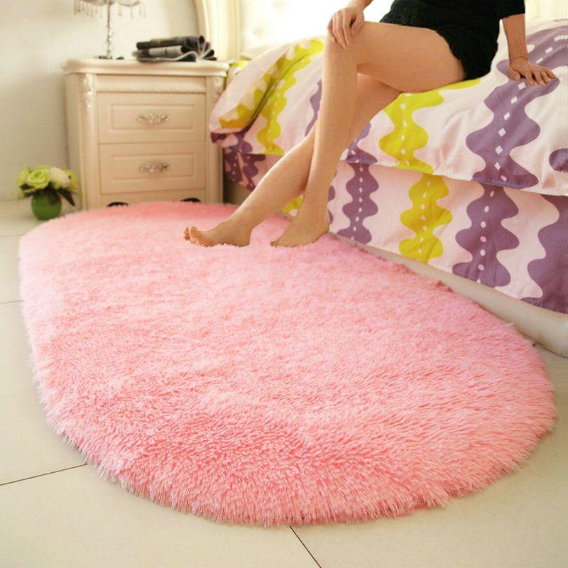 Comodino tappeto ovale moderno tappeto semplice soggiorno camera da letto piena di bel tappeto ragazza principessa.