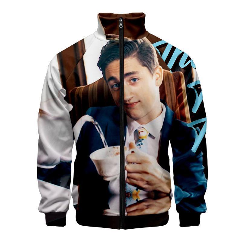 3D-Internet Prominente Danny Gonzalez Stehkragen Zipper Sweatshirt Fashion College Style 2020 neue Ankunfts-Herbst-Sweatshirt