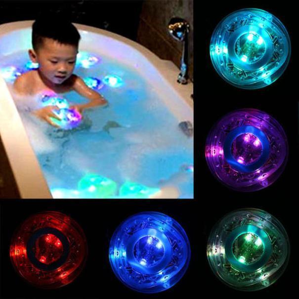 Pudcoco الأحدث الرضع القادمين الساخن الوليد طفل اللعب في حوض الاستحمام الوقت اطفال اطفال دش المرح تغيير لون أدى ضوء اللعب dLNiK