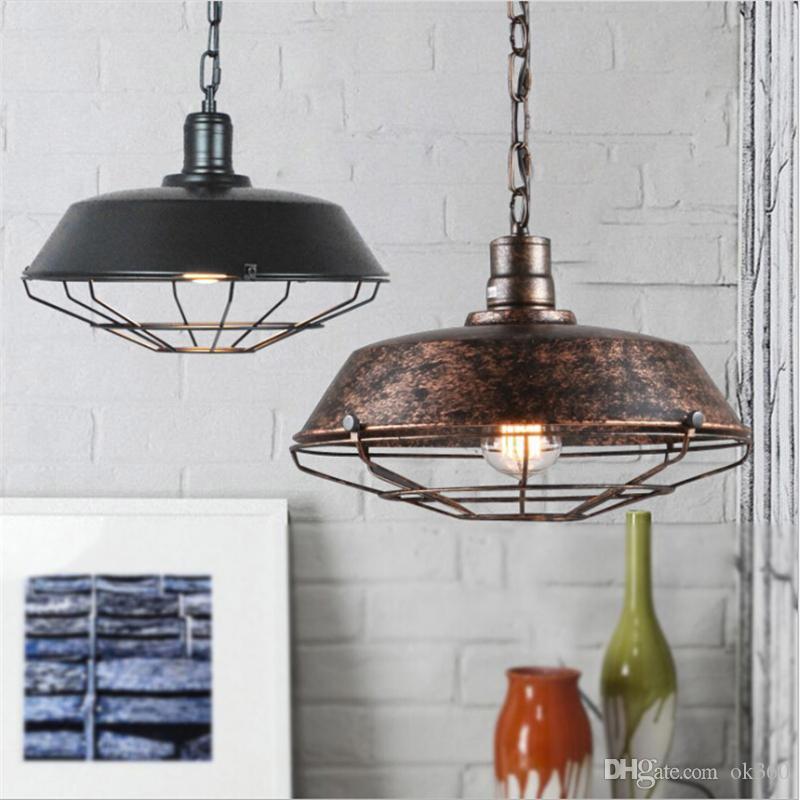 Pingente de Luz industrial Retro luzes penduradas retro vintage Lâmpada pingente Americano sotão lustre de iluminação para casa