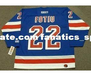 finest selection 40d1d 70ad6 2019 Mens,Womens,Kids NICK FOTIU New York Rangers 1976 CCM M&N Away Custom  Any Name&No. Hockey Personalized Jerseys Goalit Cut Jerseys From ...