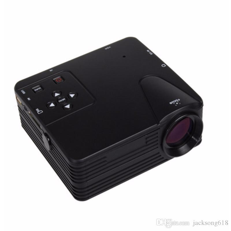 mini Portable LED Projector black