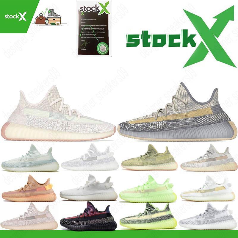 3M reflexiva Israfil Cinder linho Kanye West V2 Yecheil cauda Designer Luz Desert Sábio Luz Traseira Running Shoes New Yeshaya Mulheres 36-48