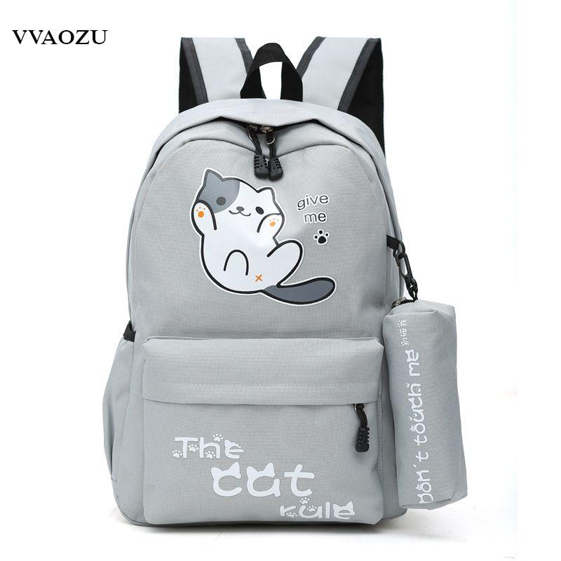 New Cute Anime Neko Atsume Backpack shoulder bag knapsack Students Schoolbag
