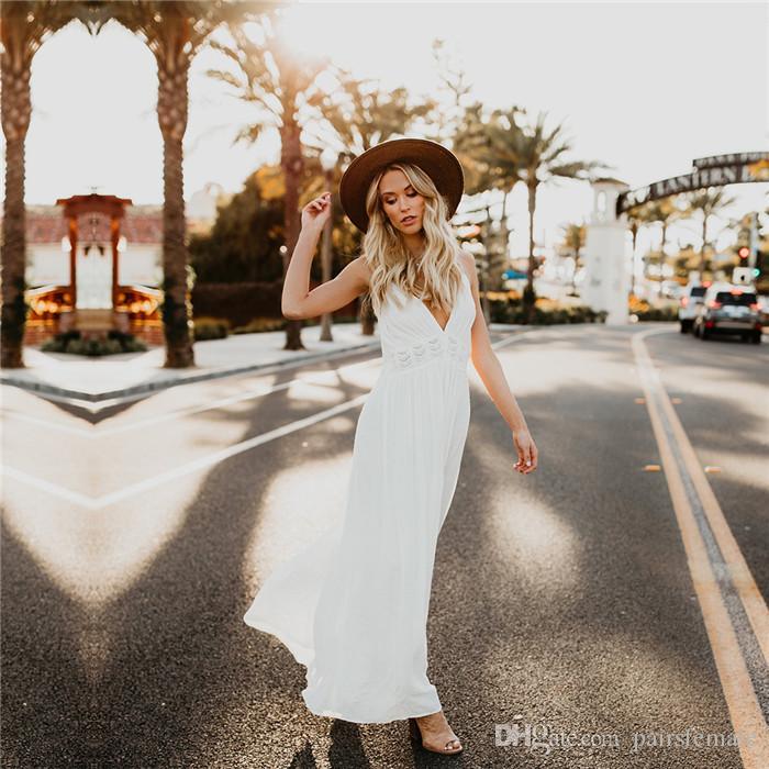 Lace Sling Spitze Maxi-Kleid reizvolles Backless Solid Color Mode Kleidung Designer Famale Kleid