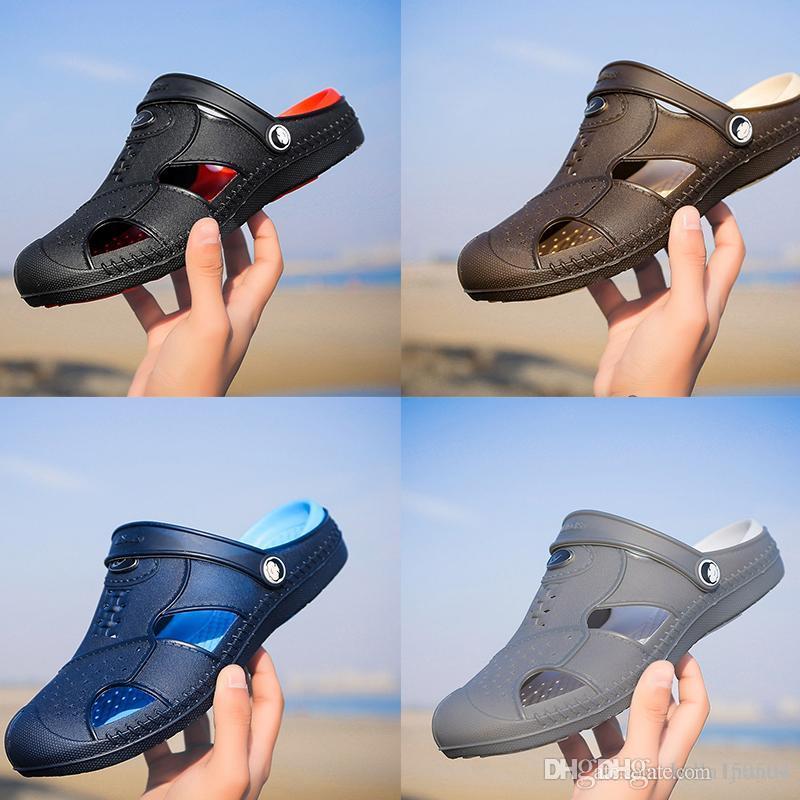 Designer hommes de Jelly sandales creuses cause à effet pantoufles été antidérapants tongs respirante Sandales Water Beach Chaussons de qualité supérieure