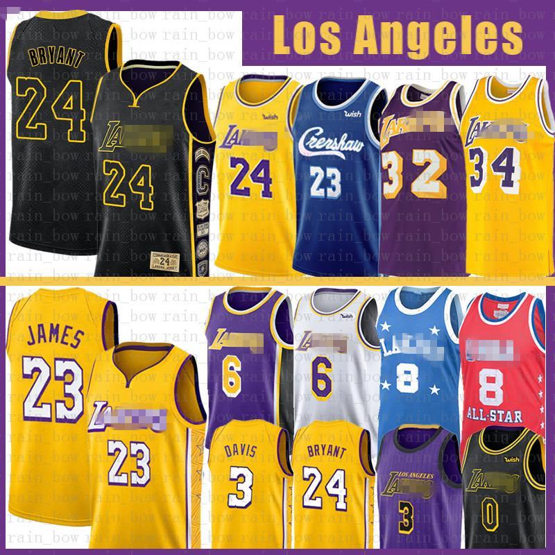 LeBron James 23 6 Basketball Jersey Bryant Anthony 3 Kyle Davis Kuzma Herren Erwachsene Jugend Kinder 8 Shaquille O'Neal 34 Earvin 32 Johnson NCAA