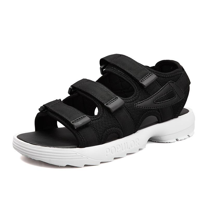 2018 estate scarpe da spiaggia nuovo scoppiano i sandali spessi delle donne inferiori scarpe da donna paio moda fabbrica all'ingrosso Scarpe comode