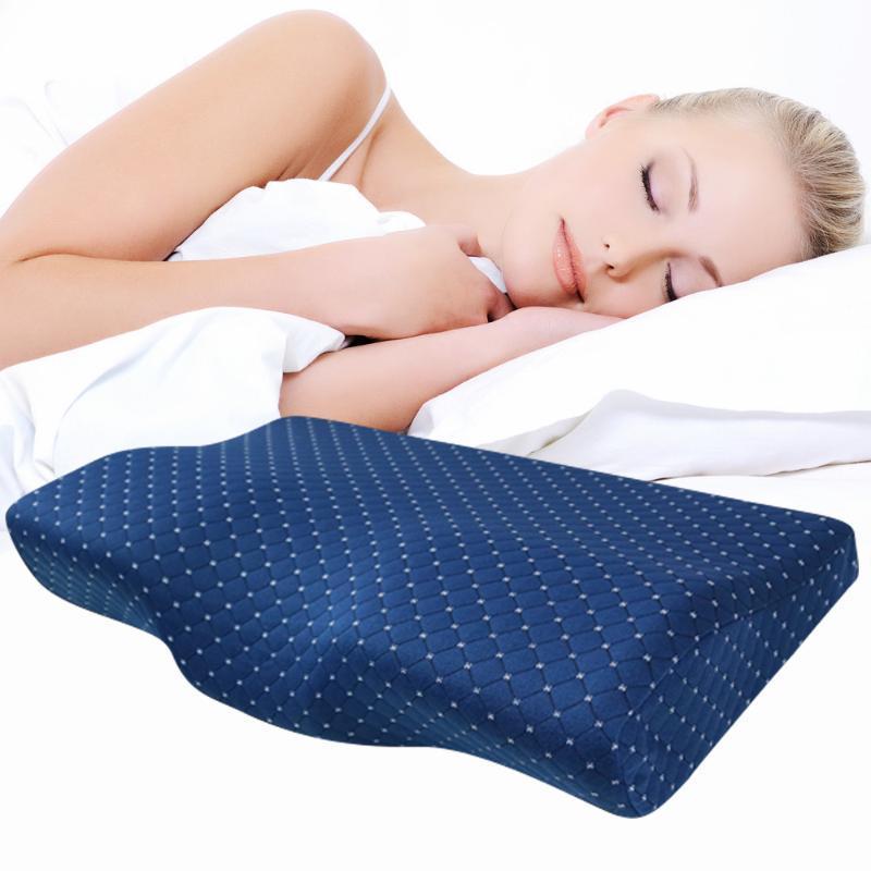 Memory Foam cuscino ortopedico cuscino in lattice collo fibra lento ritorno soft per massaggi Per cervicale Health Care