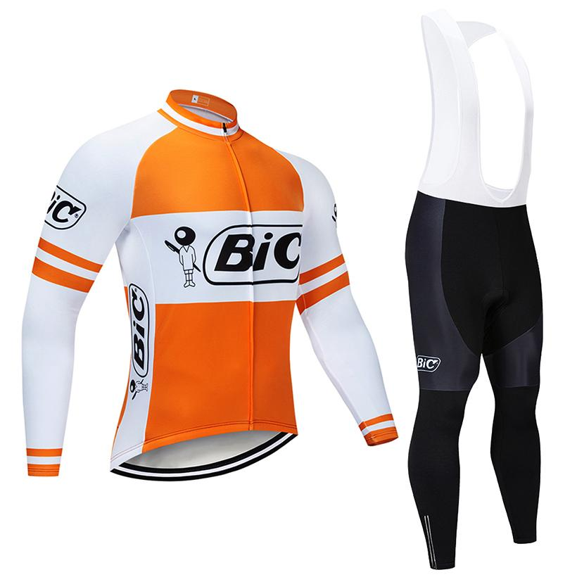 Hiver Cyclisme Jersey 2020 Pro Team BIC Thermal Toison Vêtements de vélo VTT vélo Jersey Kit Salopette Ropa Ciclismo Inverno