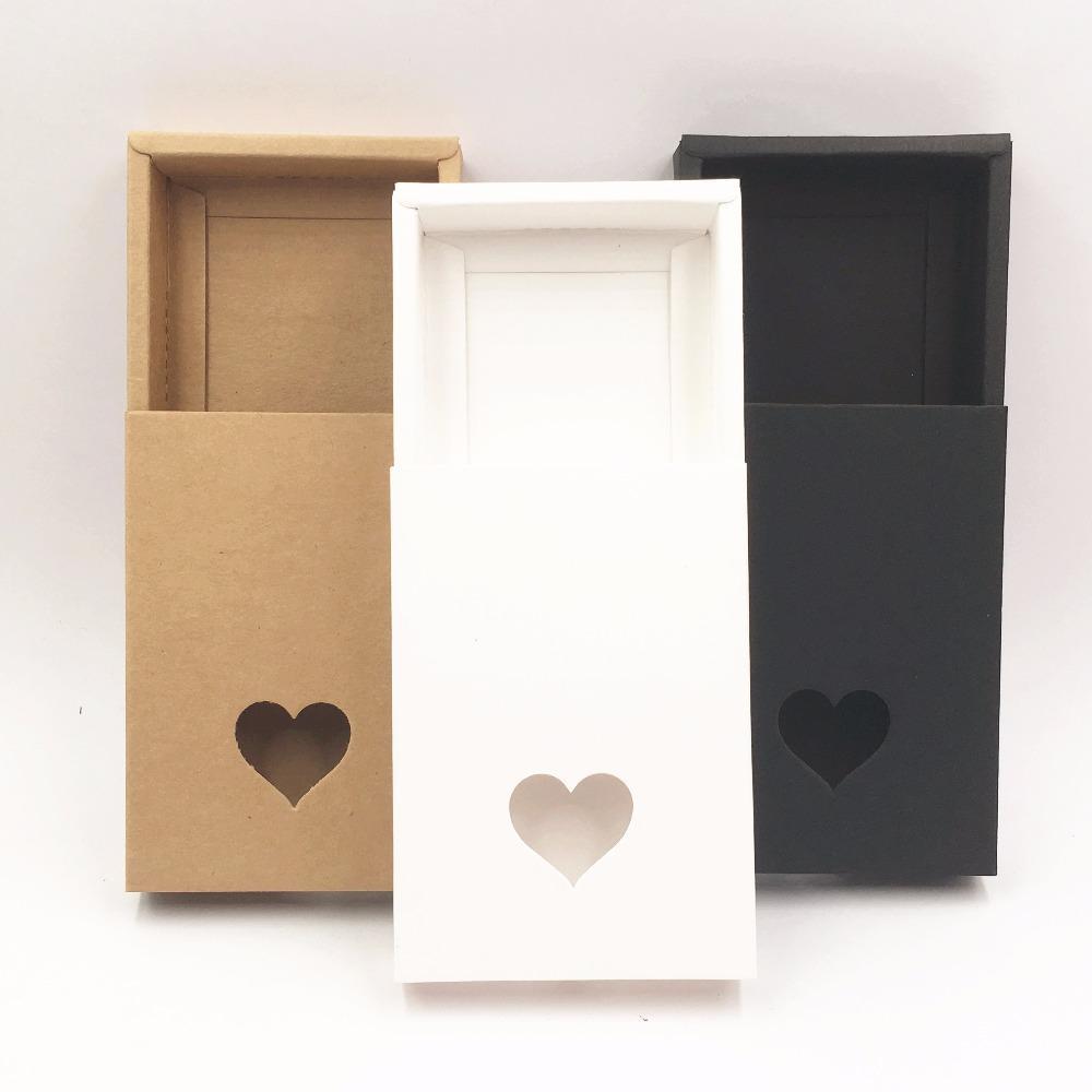 Cajas de regalo de cajones hechos a mano de papel kraft marrón, caja de embalaje de bricolaje / caja de embalaje para dulces \ Pastel \ Joyería \ Regalo \ chocolate 50pcs / lot