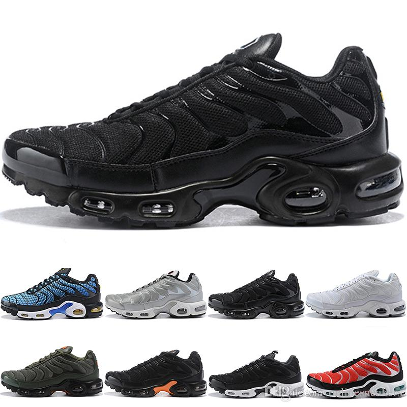 Nike Air Max TN Plus Ultra Airmax Plus Tn Hombres Mujeres Zapatillas De  Deporte Ultra Triple Negro Blanco Plata Bullet Core Oreo Gold Mens Sport ...