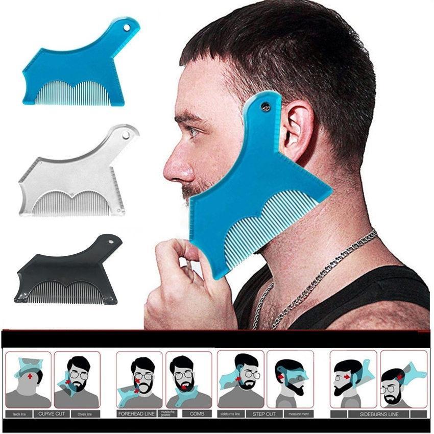 New Innovative Design Design Barba Shaping Tool Trimming Shaper Template Guide Strumento da barba per uomo per gli uomini