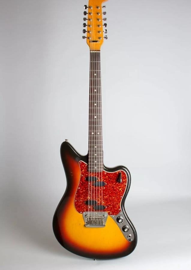 Custom Shop 12 سلاسل الكرز Sunburst ST Precision Jaguar Jazzmaster غيتار كهربائي قفل مزدوج جسر اهتزاز، الأحمر السلاحف البلاغارد