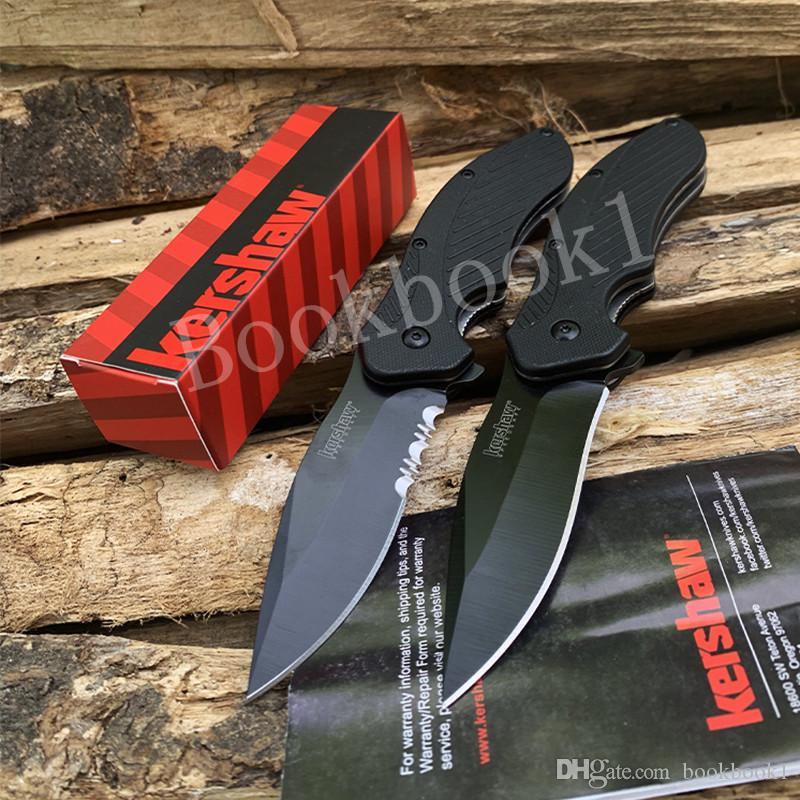 6 Type Kershaw 1605 1990 Couteau EDC Couteau Pliant Tactique Pliant Portant Camping Survivl Couteaux multifonctionnels Outils EDC