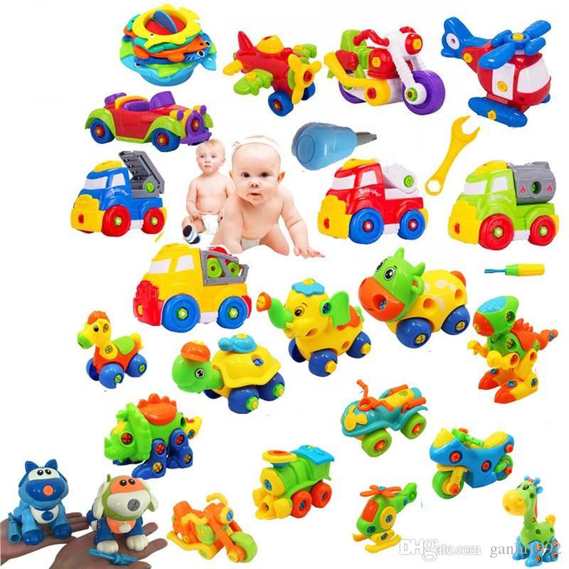 Cars Helicopter Model Train Tortoise Toys Cat Horse Plastic Models Removable For Children Kid Boy Creative 4 5jl D1