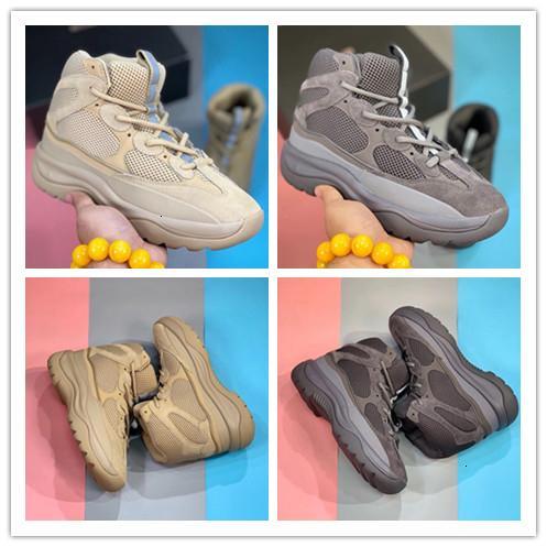 Con la scatola Kanye West Rock Oil Desert Boot Sale Venendo Scarpe Blush utilità nero Super Luna Giallo Men Sneakers all'aperto