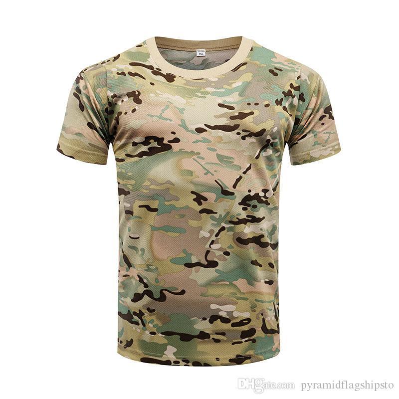 Homens de pesca camiseta clothing verão homem camisas de camuflagem de manga curta esporte ao ar livre respirável quick dry roupas de pesca