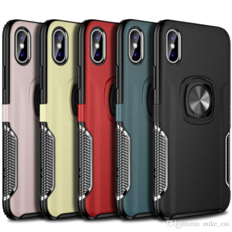 promo code 7cfaf 7da7b Finger Bracket Card Phone Case Magnet Ring Holder Ultra Thin Soft Tpu Pc  Phone Case Card Holder For Iphone XR XS MAX X 8 7P 8/6/7 Note 9 Cases For  ...
