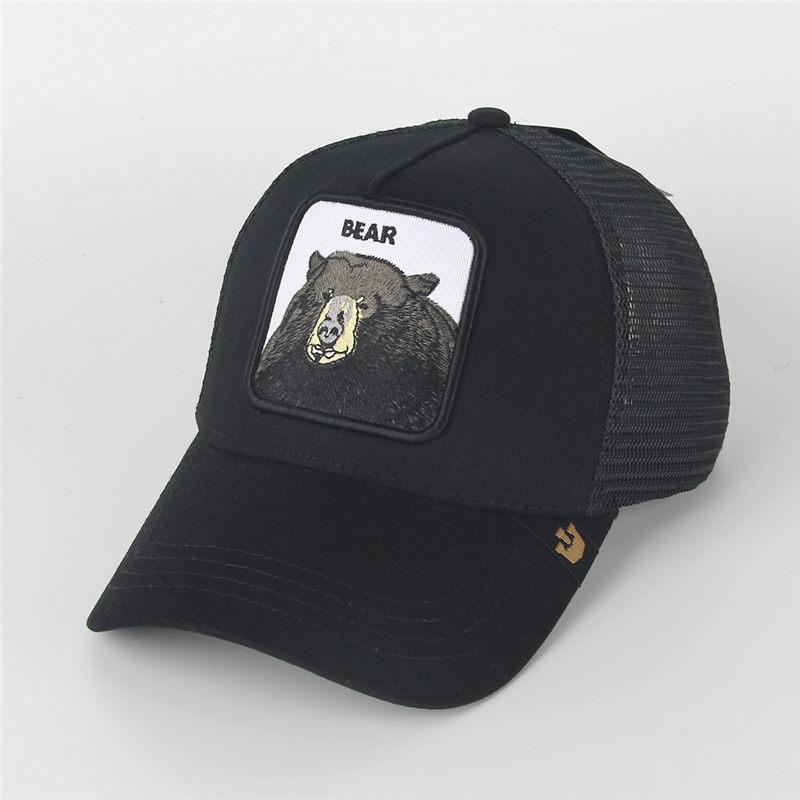 Mesh шляпы fashion-женщины Моды козырек Hat Мужчина вышивка Тигр Бейсболка Регулируемой SNAPBACK Животные Hat Cap мяч для гольфа