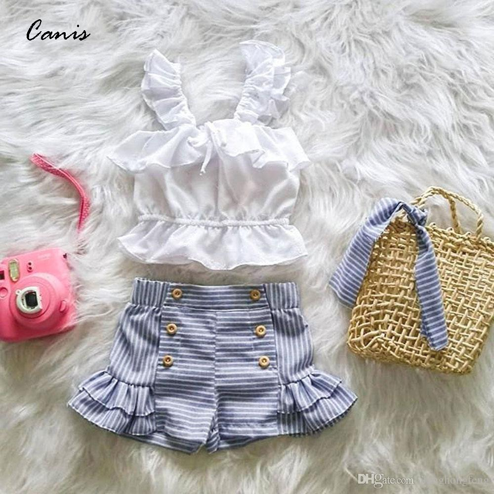 UK Toddler Kids Baby Girl Outfits Clothes Ruffle Tops Dress+Short Pants 3PCS Set