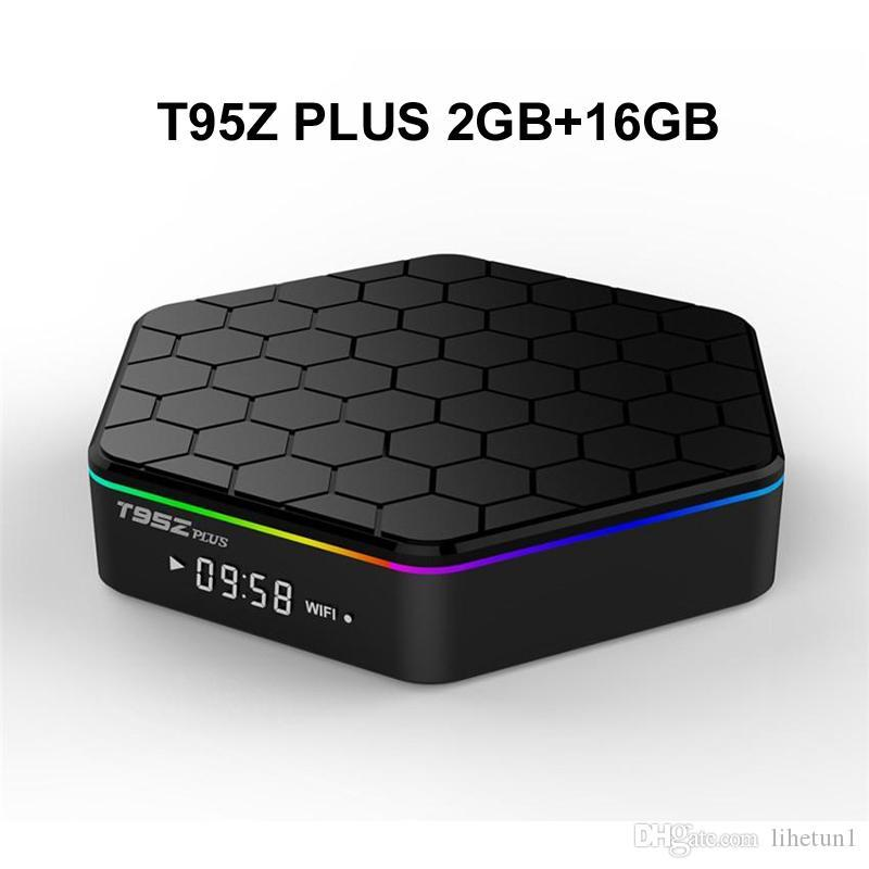 10PCS الأصل T95Z PLUS 2G 16G الروبوت 7.1 TV BOX AMLogic نوع S912 الثماني الأساسية 2.4G 5G واي فاي بلوتوث ميديا بلاير