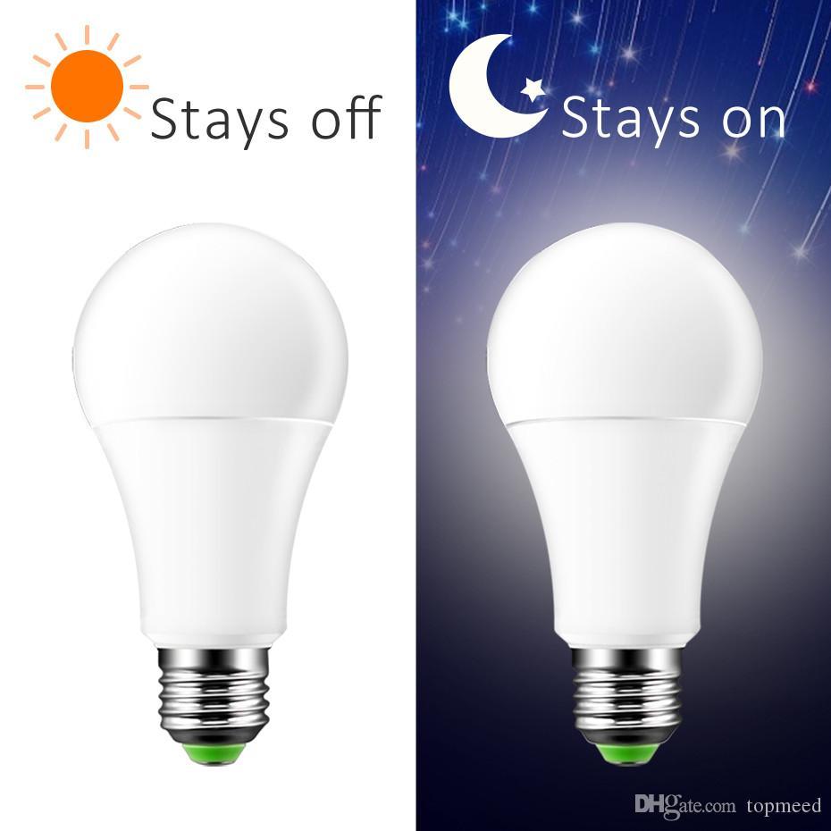 New Led Sensor Bulb Dusk To Dawn Light Bulb 7w Ac220v 110v Ip44 Outdoor Porch Lights Night Light Smart Auto On Off Lamp Led Downlight Bulbs 2825 Led