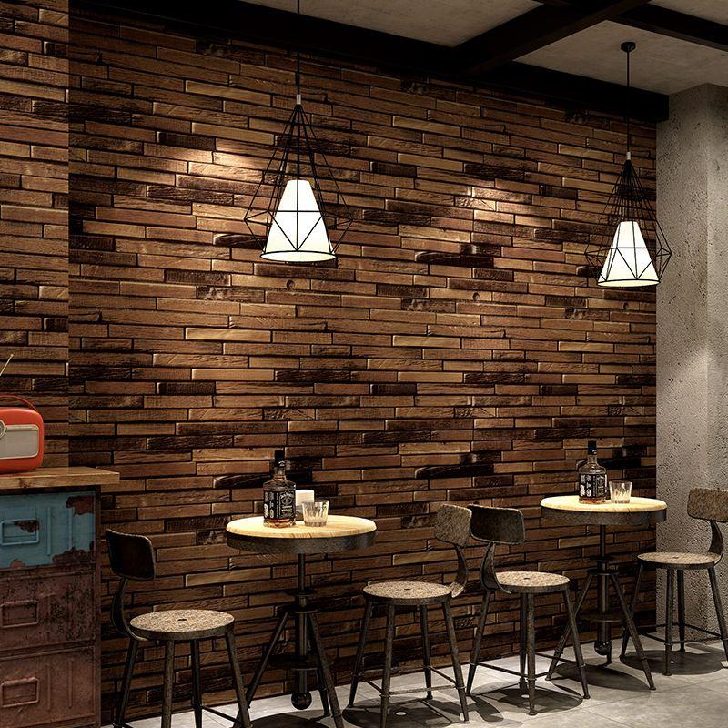 Compre Costumbre 3d Tienda De Ropa De Bar Restaurante Papel De